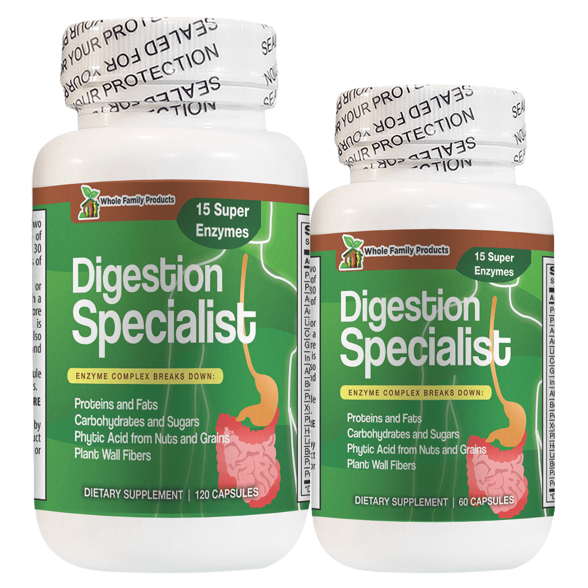 Digestion Specialist 60 and 120 Capsules The Best Complete Digestive Enzyme Supplements